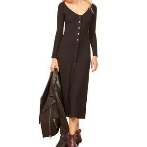 ✨ NWOT Reformation Ella Ribbed Midi Dress ✨